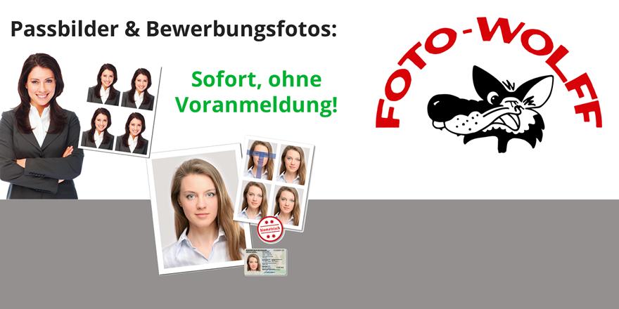 Passbilder und Bewerbungsfotos: sofort und ohne Voranmeldung bei Foto Wolff Dinslaken