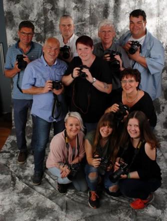 Teilnehmer/-innen eines Foto Wolff-Fotokurses im Mai 2017 in Dinslaken