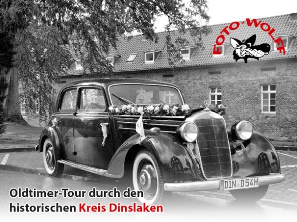 Oldtimer-Tour durch den historischen Kreis Dinslaken, mit Axel Wolff