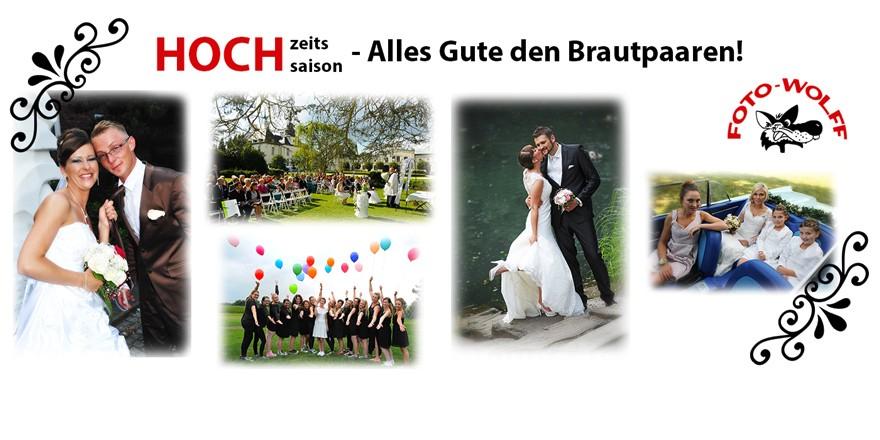 Hochzeits-Hochsaison 2018: Foto Wolff wünscht den Brautpaaren alles Gute