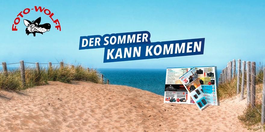 Der Sommer kann kommen... europafoto-Sommerprospekt - Alle Artikel erhalten Sie bei Foto Wolff
