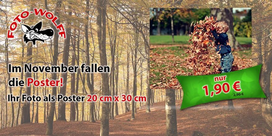 November 2018 bei Foto Wolff: Poster 20 x 30 cm nur € 1,90