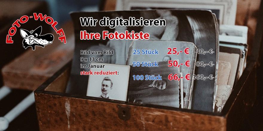 Wir digitalisieren Ihre Fotokiste: Bild vom Bild 9 x 13 cm im Januar stark reduziert!