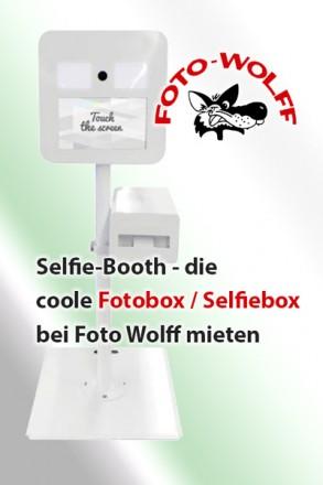 Selfie-Booth - die coole Fotobox / Selfiebox bei Foto Wolff mieten