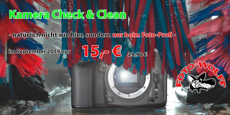 Kamera in der Waschstraße - Kamera Check & Clean - natürlich nicht wie hier, sondern nur beim Foto-Profi -im September 2019 nur 15,- € statt 29,90 €