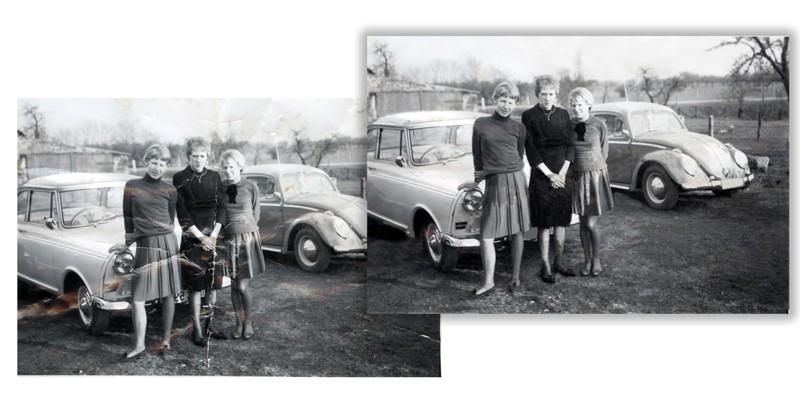 Foto-Restaurierung bei Foto Wolff in Dinslaken: Vorher-Nachher-Beispiel