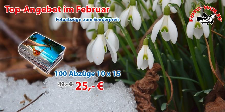 Top-Angebot im Februar 2020 bei Foto Wolff in Dinslaken: 100 Abzüge 10 x 15 cm für nur 25,- Euro