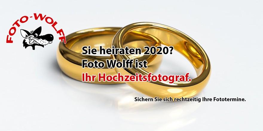 Sie heiraten 2020? Foto Wolff ist Ihr Hochzeitsfotograf.
