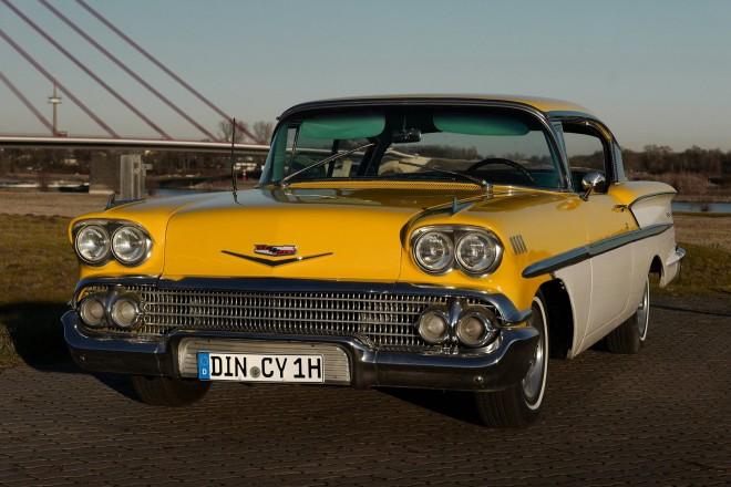 Hochzeitsfotograf Foto Wolff: Der Oldtimer Chevrolet Bel Air 1957 steht Ihnen als Hochzeitswagen zur Verfügung