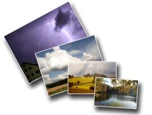Fotoabzüge mit verschiedenen Motiven