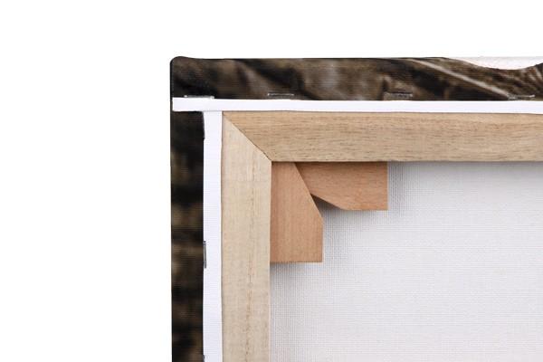 Leinwand-Rückseite mit Holzkeilen