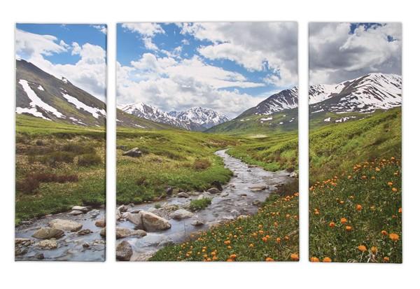 Foto auf Leinwand: Ein Motiv auf drei Leinwände aufgeteilt