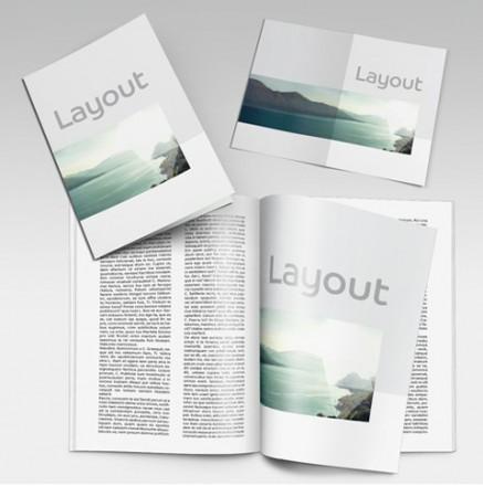 Printmedien in verschiedenen Formaten