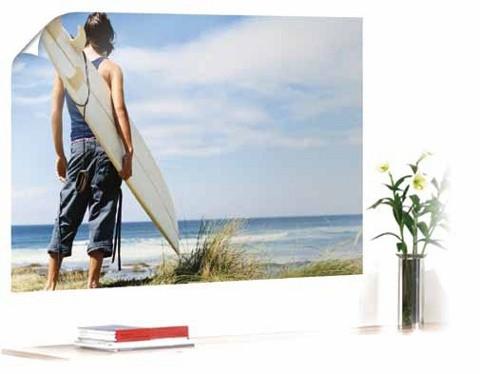 Poster mit Surfermotiv