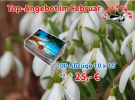 Top-Angebot im Februar bei Foto Wolff in Dinslaken: 100 Abzüge 10 x 15 cm für nur 25,- Euro