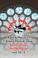 April & Mail 2019: Kleine Porträt-Serie Kommunion / Konfirmation nur 39,- €