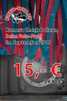 Kamera Check & Clean beim Foto-Profi im September 2019 nur 15,- € statt 29,90 €