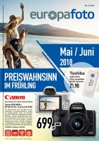 europafoto-Prospekt Mai / Juni 2018