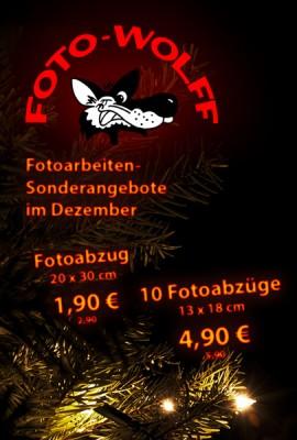 Fotoarbeiten-Sonderangebote im Dezember 2018 bei Foto Wolff in Dinslaken