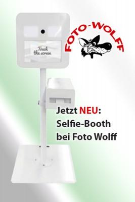 Selfie-Booth-Fotobox bei Foto Wolff mieten