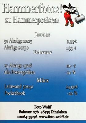 Hammerfotos zu Hammerpreisen - Fotoarbeiten-Sonderangebote Januar bis März 2018 bei Foto Wolff